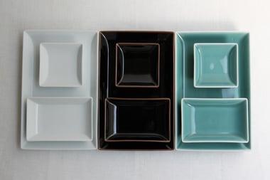 SHIHOU 四方 正角チョク・長角チョク・盛付皿 (白山陶器) サブPH1