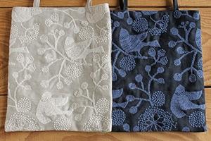 点と線模様製作所の小さな刺繍バッグ(倉敷意匠×点と線模様製作所)