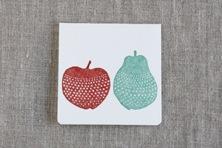 レタープレスの二つ折りカード(点と線模様製作所×倉敷意匠)