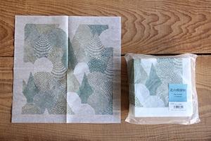 点と線模様製作所のナプキンとコースター(倉敷意匠×点と線模様製作所)