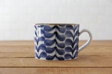 藍葉 マグカップ (九谷青窯×小林巧征)
