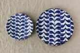 藍葉 平皿 (九谷青窯×小林巧征)