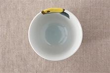色絵みかん 片口3.5寸鉢・ぐいのみ (九谷青窯・徳永遊心)