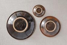 皿 緑釉 (ノモ陶器製作所)
