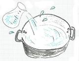 米のとぎ汁を用意