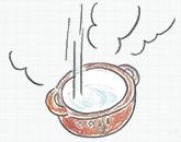濡れたまま土鍋を火にかけること