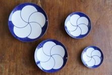 ねじり梅 和皿(白山陶器)