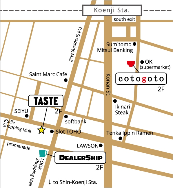 cotogoto map