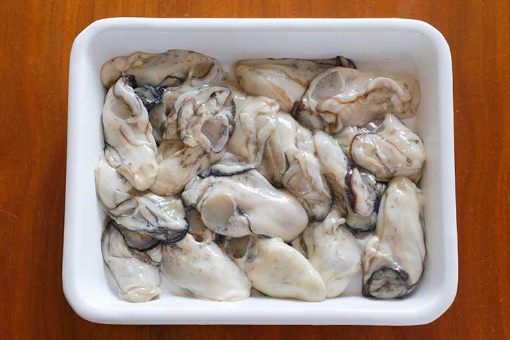 旬の食材「牡蠣」