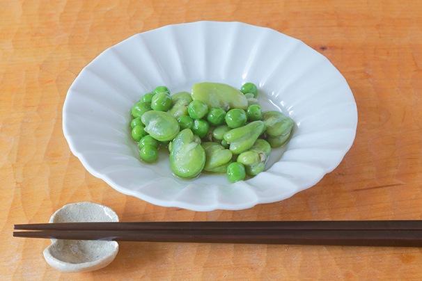 春の豆のオイル漬け