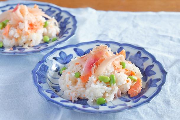 新生姜と鮭のちらし寿司