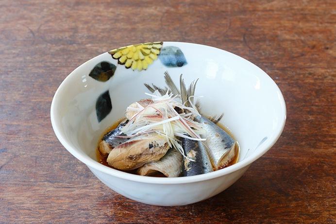 季節の魚のバジル醤油煮