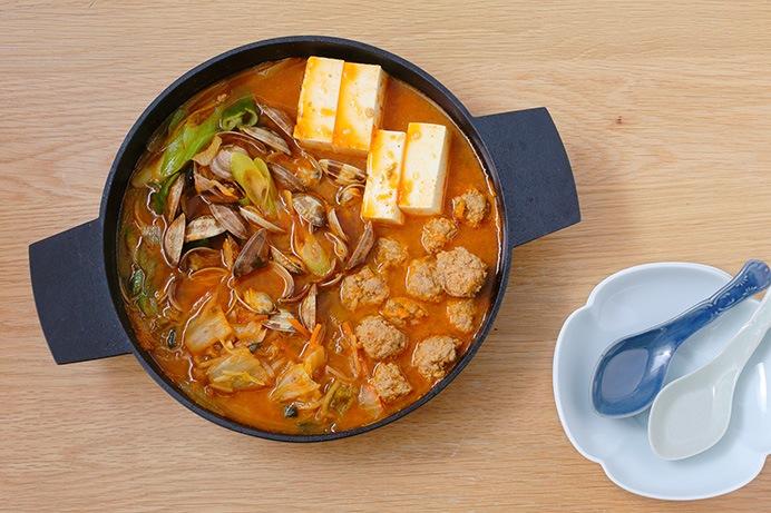 あさりと豆腐のキムチチゲ