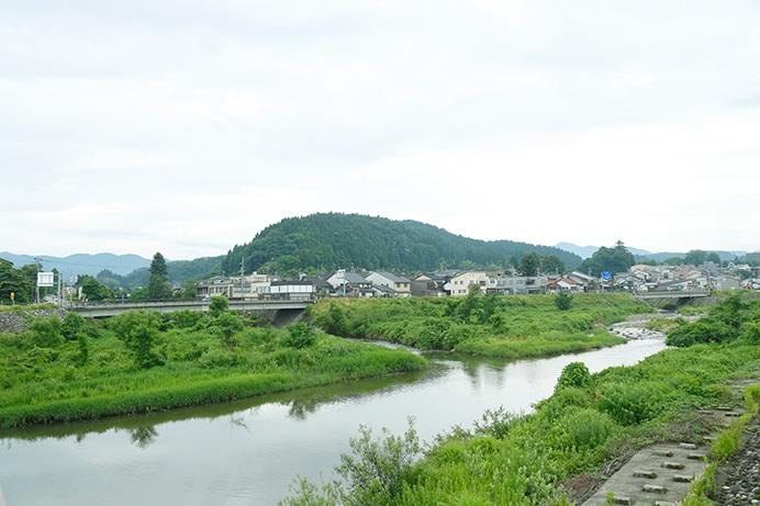 自然豊かな八尾町の風景