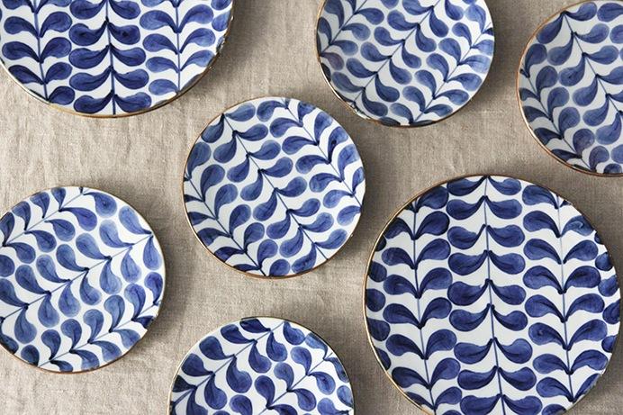 藍葉 平皿