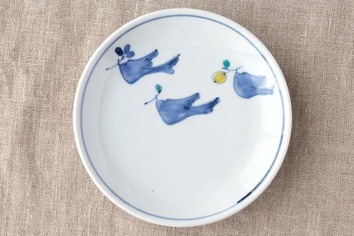 色絵木の実集め4.5寸皿