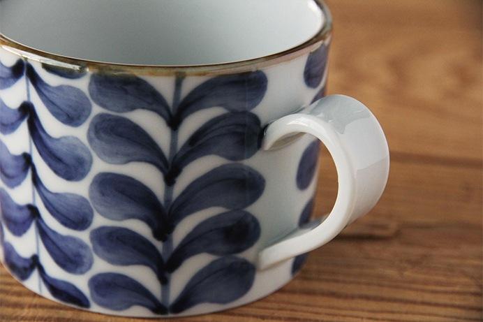 藍葉 マグカップ