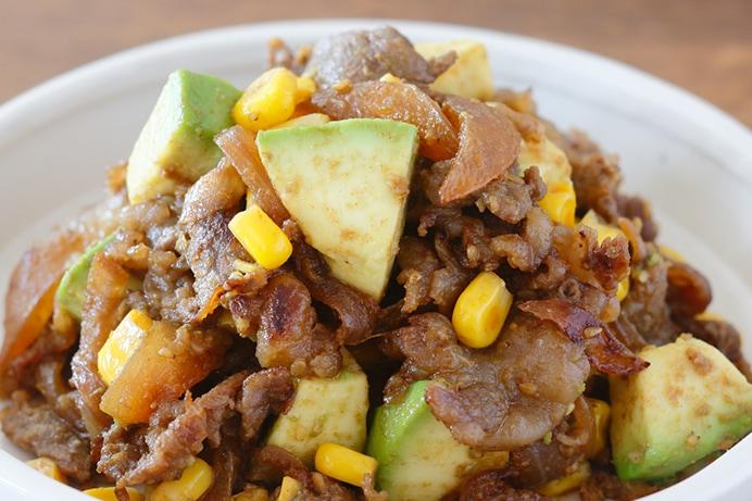夏野菜と牛肉のカレー炒め