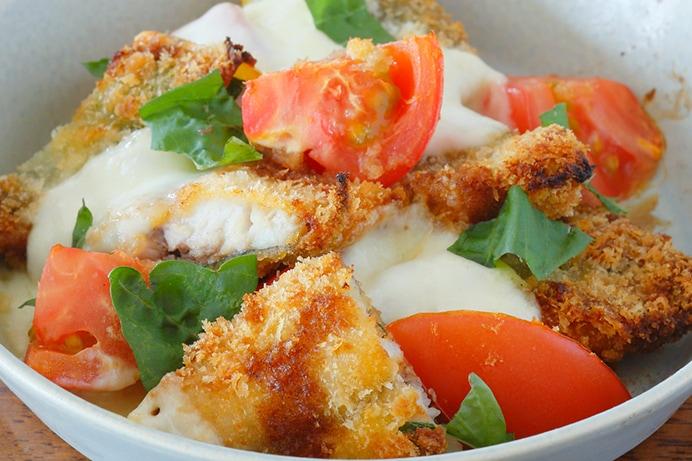 トマトとアジのチーズ焼き