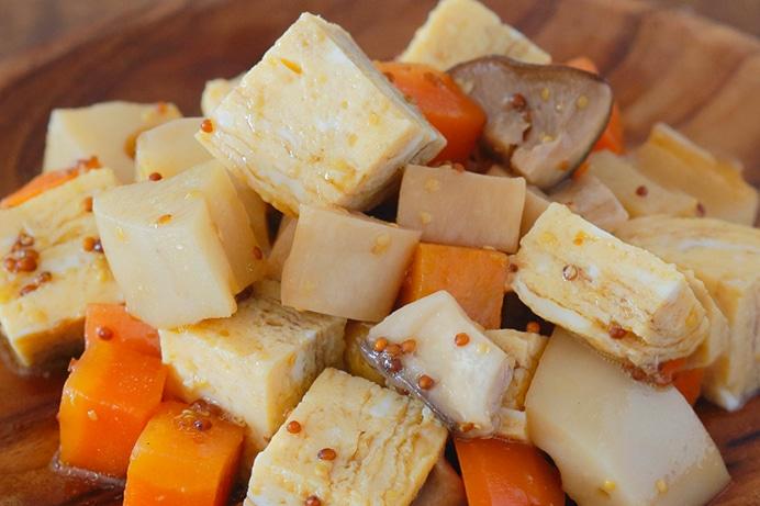 卵焼きと根菜のダイスサラダ
