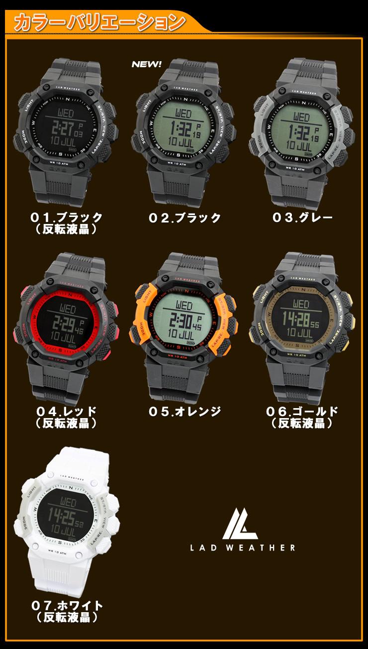 GPSの腕時計カラーバリエーション