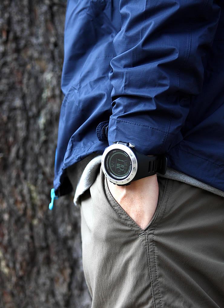 方位 高度 気圧 温度 天気 を計測! アウトドア ウォッチ 釣り ハイキング キャンプ サイクリング 海や山で大活躍!カジュアル 時計 mens watch