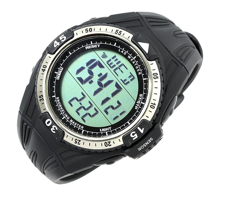 蒼い海を刻む腕時計 [ LAD WEATHER ラドウェザー ] スイス製センサー 【水深・温度・潜水時間の計測と保存】 シュノーケリング ダイビング 腕時計 スポーツウォッチ デジタル ウォッチ 100m防水 ダイバーズウォッチ ダイバー/ダイバーズ