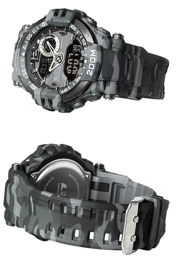 ラドウェザー LAD WEATHER ヴァリアントマスター3 ブランド 腕時計 デジタル アナログ デジアナ アナデジ ミリタリーウォッチ アウトドア サバイバル カモフラ 迷彩柄