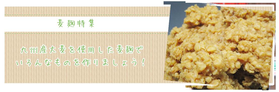 九州産大麦を使用した麦麹でいろんなものを作りましょう!