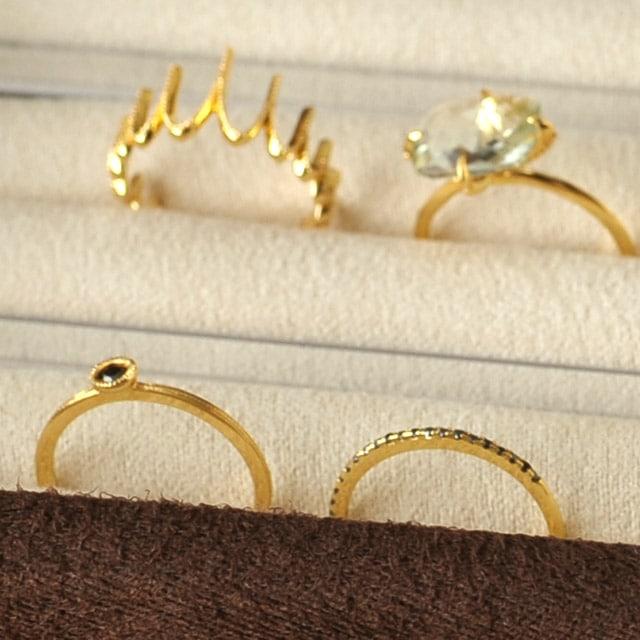 指輪の収納例
