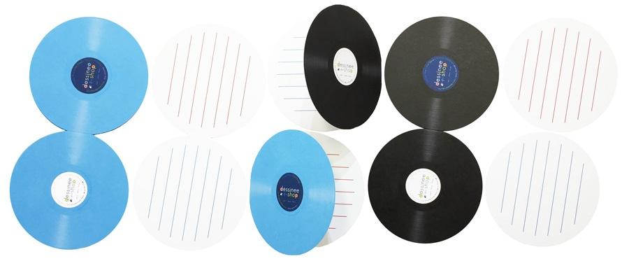 デシネ特製のヴァイナル仕様折りたたみメモ帳(20枚×2種類セット)』(非売品)