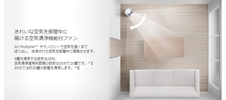 きれいな空気を部屋中に届ける空気清浄機能付ファン