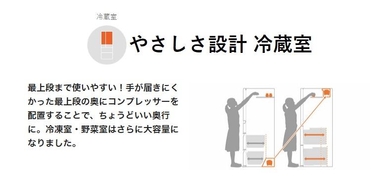 優しさ設計冷蔵室