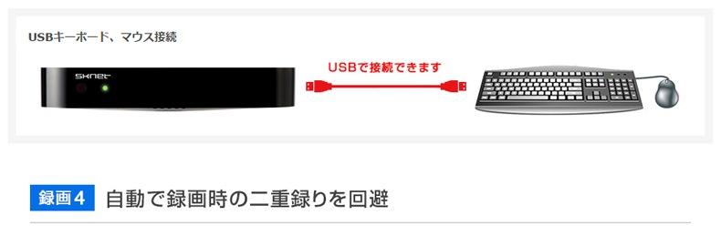 USBキーボード、マウス接続