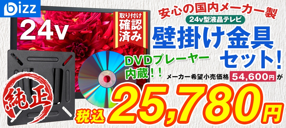 bizz 24V型 1波DVDプレーヤー内蔵デジタルフルハイビジョンLED液晶テレビ HB-24HDVR