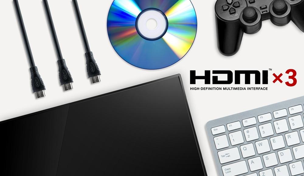 HDMIが3ポート搭載されてます