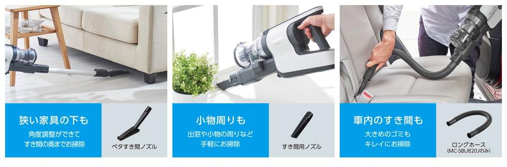 ペタすき間ノズル・すき間用ノズル・ロングホース