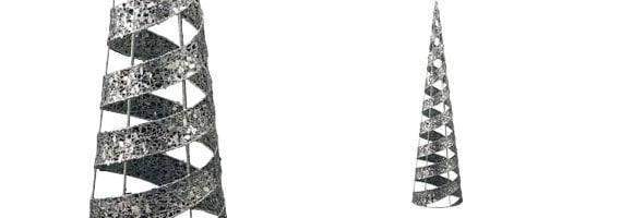 60cmグリッターワイヤーメッシュスパイラルコーン