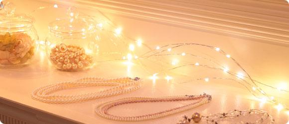 LEDジュエリーライト電球色使用イメージ
