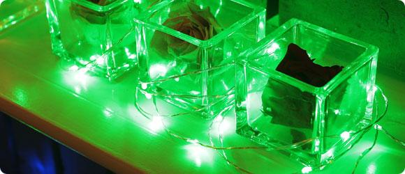 LEDジュエリーライトグリーン使用イメージ