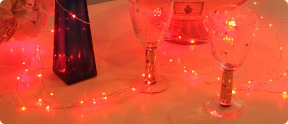 LEDジュエリーライトレッド使用イメージ