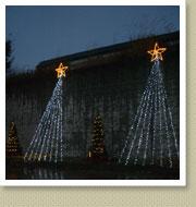 クリスマスイルミネーション施工写真-高速道サービスエリア1