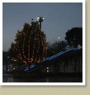 クリスマスイルミネーション施工写真-高速道サービスエリア2