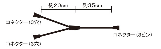 Y型コネクター使用例