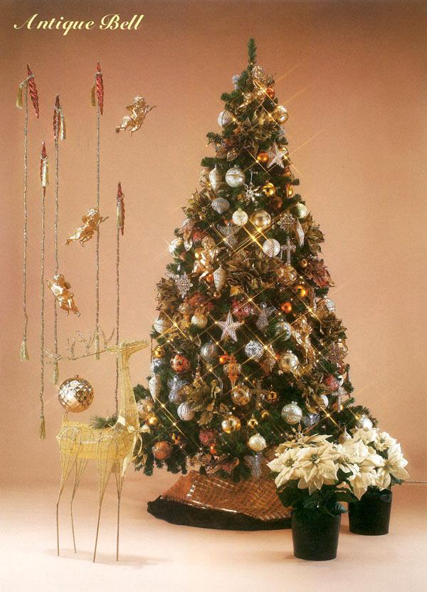 天使がほほ笑むゴールドのツリー