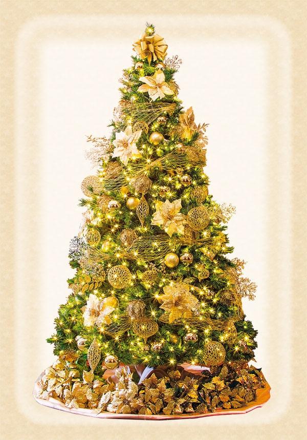 ゴールドのゴージャスなツリー