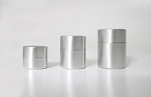 東屋 茶筒  銅 錫めっきは大サイズ、中サイズ、小サイズの三種類のご用意が御座います