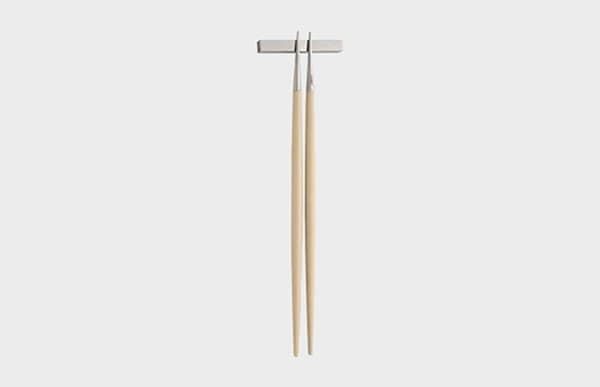 Cutipol クチポール 箸 GOA アイボリー×シルバー お箸セット
