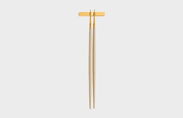 Cutipol クチポール 箸 GOA アイボリー×ゴールド お箸セット