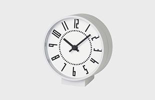 eki clock small TIL19-08 WH